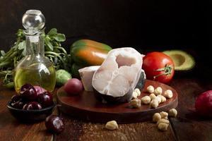 a variedade de alimentos dietéticos flexitaristas foto