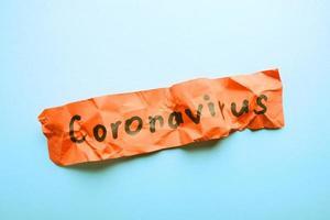 derrotando o conceito de coronavírus foto