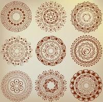 conjunto de ornamentos étnicos desenhados à mão foto