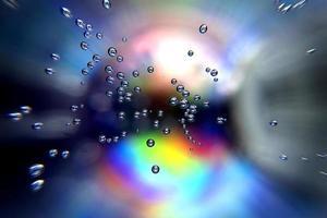 fundo vívido abstrato com bolhas em movimento foto
