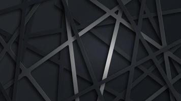ilustração futurista de fundo 3d abstrato preto foto