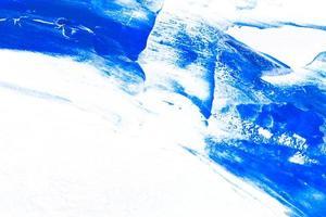 fundo de textura de pincelada de pintura de aquarela azul foto
