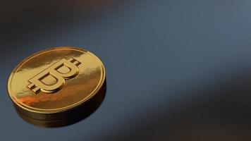 moeda da Tailândia em um fundo de mesa, ilustração 3D foto