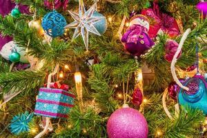 closeup árvore de natal foto