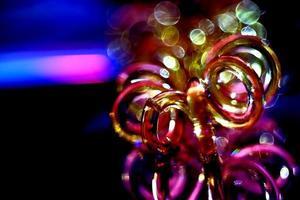 objeto espiralado abstrato em cores abstratas foto