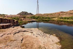 vista do mausoléu de jaswant tanda jodhpur rajasthan índia foto