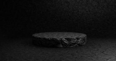 pódio preto vazio para produto de exibição foto