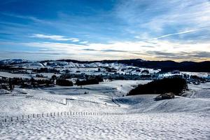 paisagem de neve zero foto