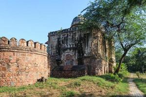 paredes da tumba humayuns nova deli índia foto