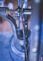peças de roda de bicicleta foto