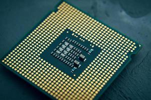 processador de computador com chip cpu foto