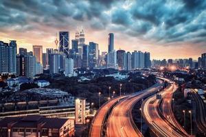 cidade de Kuala Lumpur na Malásia foto