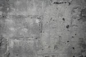 demolir textura de parede de concreto rachada foto