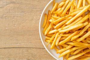 batatas fritas ou batatas fritas foto