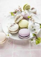 macaroons doces franceses foto