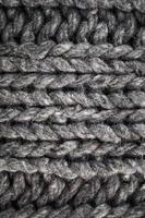 pano de lã cinza feito à mão foto
