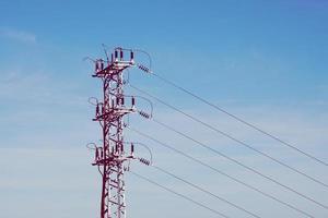 torre de transmissão de energia elétrica foto