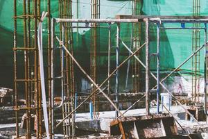estrutura de suporte do canteiro de obras foto
