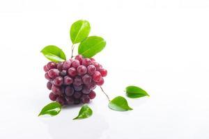 uvas vermelhas em acrílico branco foto