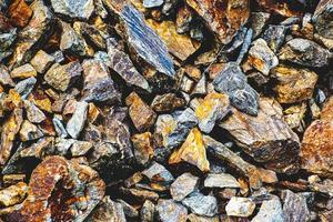grupo de rochas de granito foto
