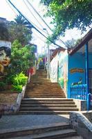 escada no distrito de barranco em lima peru foto