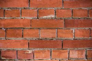 pano de fundo de superfície de parede de tijolo vermelho simples foto
