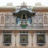 palácio da cidade de udaipur em rajasthan, índia foto
