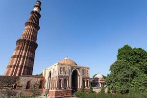 Qutub Minar em Nova Deli, Índia foto