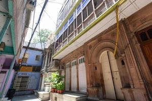 bazar da cidade velha, chandni chowk em nova deli, índia foto