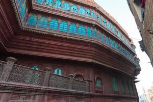 haveli em bikaner, rajasthan, índia foto