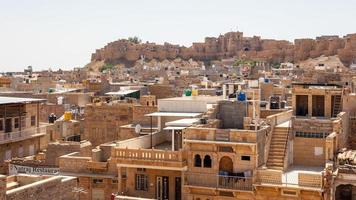 vista de Jaisalmer do forte em Rajasthan, Índia foto