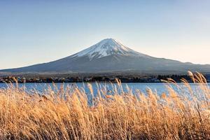 Monte Fuji no Japão Kawaguchiko foto