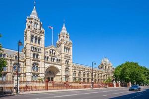 vista da fachada do museu de história natural em Londres foto