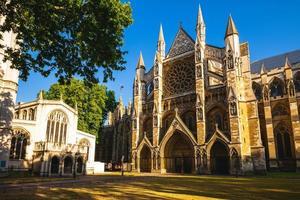 fachada da abadia de westminster em londres, inglaterra, reino unido foto