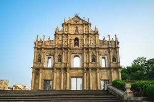 ruínas de são pauls em macau, china foto