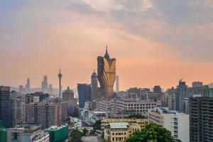 paisagem urbana de macau na china foto