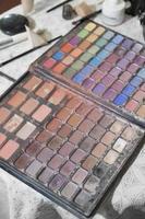 cor da paleta de maquiagem foto