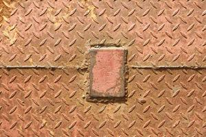 placa de textura de piso de metal enferrujado foto