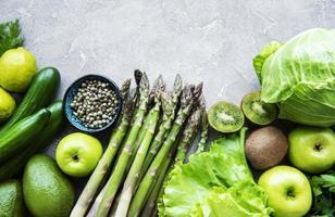 fundo do conceito de comida vegetariana saudável foto