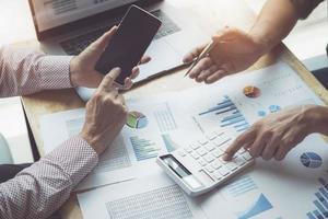 conceito de auditoria e investimento foto