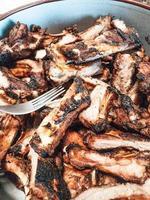 churrasco comida típica de costela de porco da galiza foto