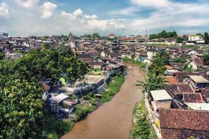 cidade velha de Yogyakarta no centro de Java na Indonésia foto
