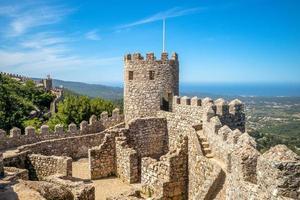 castelo dos mouros em sintra em portugal foto