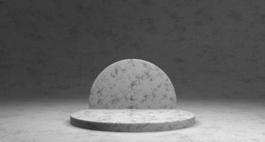 vitrine minimalista com espaço vazio foto