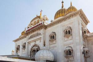 sri bangla sahib gurudwara sikh templo nova deli índia foto