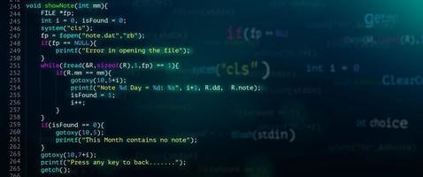 tecnologia moderna abstrata de desenvolvedor de tela de código de programação. foto