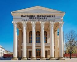 subotica, sérvia, 01 de abril de 2017 - teatro nacional em subotica foto