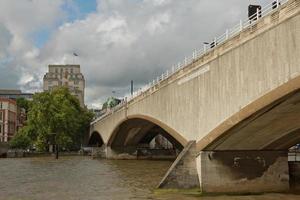 ponte waterloo em londo, no reino unido foto