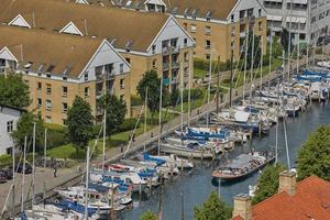 vista em copenhagen water front, dinamarca foto