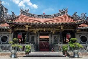 o templo longshan mengija em taipei em taiwan foto
